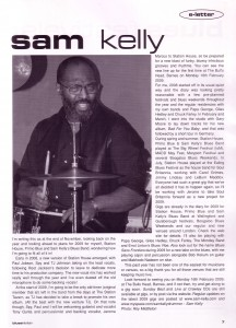 News Article: Blues In Britain (Sam Kelly e-letter)